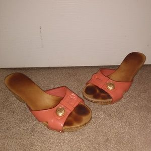 Coach Lee Open Toe Orange Sandle Size 6.5
